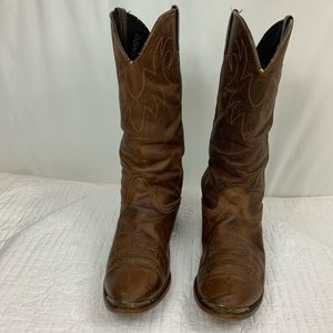 Durango brown Leather Cowboy Boots Size 9